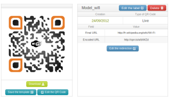 Dynamic QR Code interface
