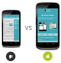 Design and usability of mobile websites