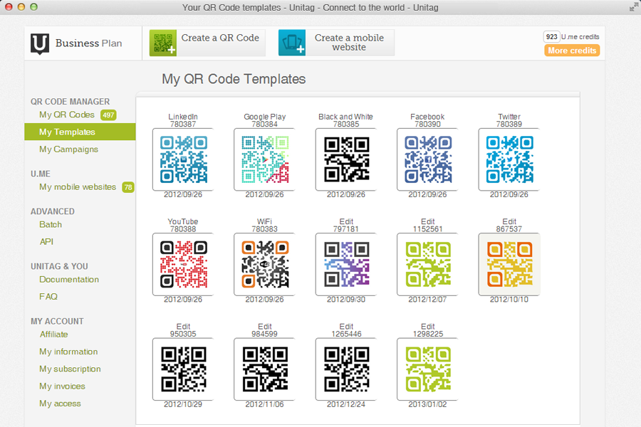 Follow, manage, track your qrcodes campaigns