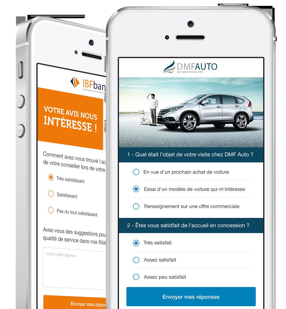 Créez des sondages adaptés au format mobile